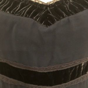 Odille Tops - Odille 100% silk with velvet and lace detailing